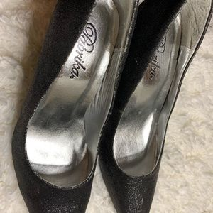 Paprika Shoes - 🔅 Black glitter heels